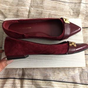 Tommy Hilfiger quilted flats size 7.5 red